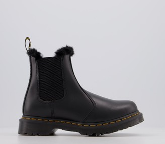 Dr. Martens 2976 Leonore Fur Lined Chelsea Boots Grey Atlas