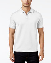 Vince Camuto Men's Waffle-Knit Quarter-Zip Strech Polo