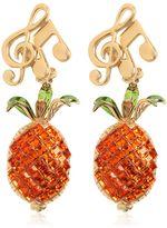 Dolce & Gabbana Pineapple & Music Note Clip-On Earrings