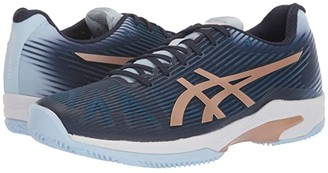 Asics Solution Speed Clay (White/Silver) Women's Tennis Shoes