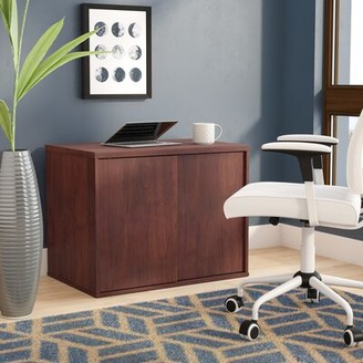 Latitude Run Tiernan Open Office Low Storage Cabinet Credenza Desk Latitude Run Color: Cherry