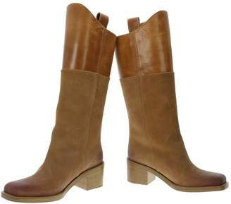 Chanel Camel Suede Boots