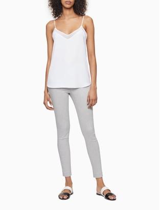Calvin Klein Modern Comfort Solid Grey Ankle Pants