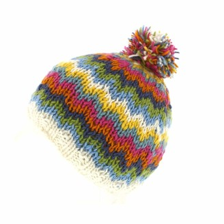 Pacha Mama Pachamama 100% Wool Totnes Bobble Hat Multi-Coloured
