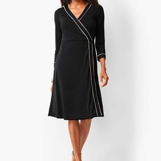 Talbots Knit Jersey Faux-Wrap Dress