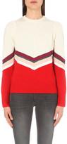 Maje Milk colour-block wool jumper