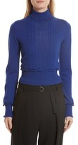3.1 Phillip Lim Women's Puffy Cable Turtleneck Sweater