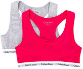 Calvin Klein Kids - pack of two logo detail bralettes - kids - Cotton/Spandex/Elastane - 8 yrs