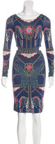 Mara Hoffman Elephant Print Cutout-Accented Dress