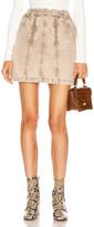 Proenza Schouler White Label Zipper Skirt in Taupe Acid Wash | FWRD