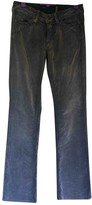 Notify Jeans Grey Cotton Trousers for Women