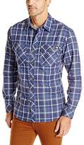 Dickies Men's Long Sleeve Yarn Dye Plaid Shirt