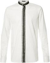 Ann Demeulemeester lace trim shirt - men - Cotton - XS