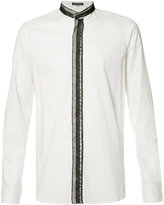 Ann Demeulemeester lace trim shirt - men - Cotton - XXS