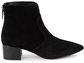 Karl Lagerfeld Paris Maya Suede Block Heel Booties
