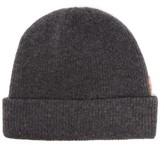 Acne Studios Krachel Ribbed Wool-blend Beanie Hat - Womens - Dark Grey