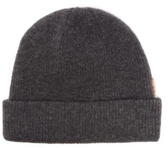 Acne Studios Krachel Ribbed Wool-blend Beanie Hat - Dark Grey