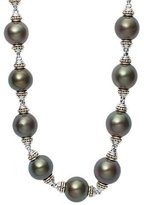 """Lagos Luna Sterling Silver Tahitian Pearl Necklace, 18"""""""