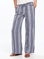 Old Navy Wide-Leg Linen-Blend Pants for Women