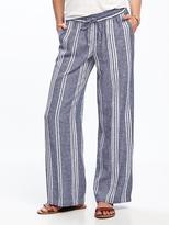Old Navy Wide-Leg Linen-Blend Pants for Women