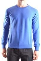 Altea Men's Blue Wool Sweater.