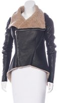 Rick Owens Draped Shearling Jacket