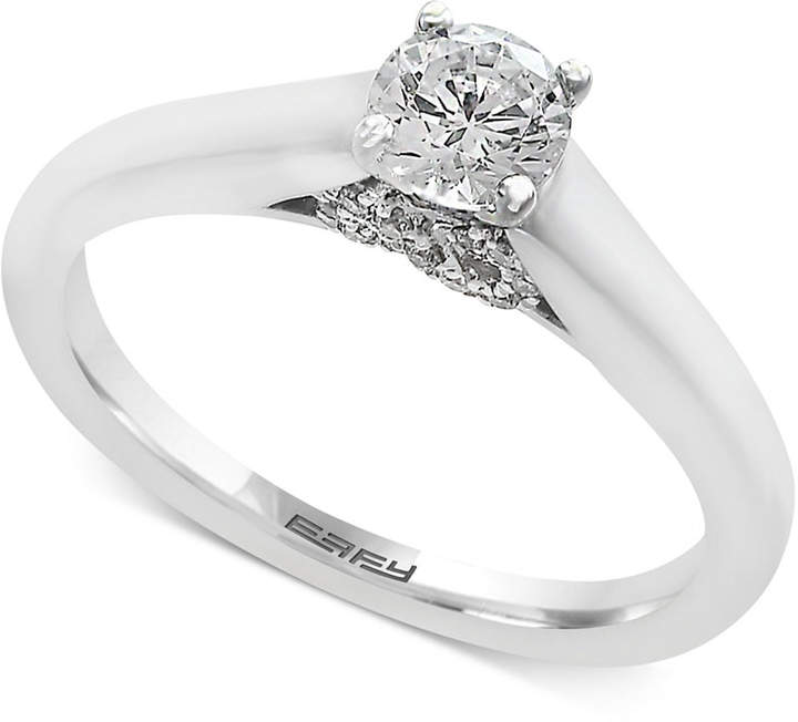 Effy Infinite Love Diamond Infinity Engagement Ring (1/2 ct. t.w.) in 18k White Gold