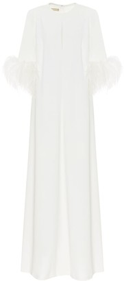 Elie Saab Exclusive to Mytheresa Feather-trimmed crepe gown
