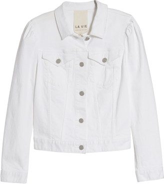 La Vie Rebecca Taylor Stretch Denim Jacket
