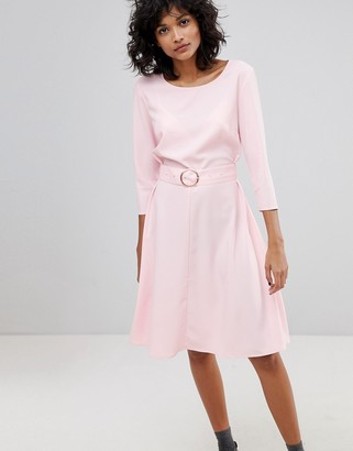 2nd Day Ring Belted Midi Dress