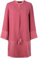 Paule Ka bow neck shift dress - women - Polyester/Triacetate - 38
