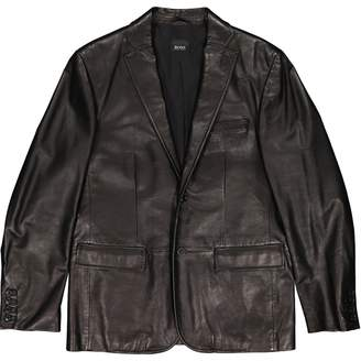 BOSS Black Leather Jackets