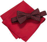 Alfani Men's Square Neat Bow Tie & Solid Pocket Square Set, Only at Macy's