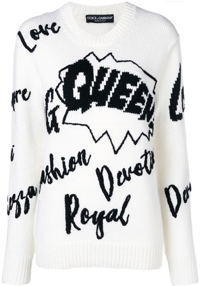 Dolce & Gabbana Slogan Knitted Jumper