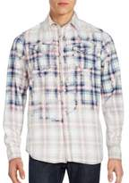 Cult of Individuality Plaid Button-Down Cotton Shirt