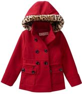 Urban Republic Girls 4-6x Double-Breasted Midweight Peacoat