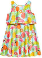 Good Lad Flamingo-Print Dress, Little Girls (2-6X)