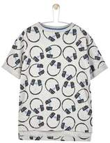 Wallis **Boys Grey Headphones Print T-Shirt (5 - 12 years)