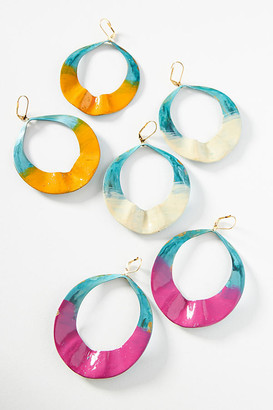 Anthropologie Teahupo Drop Earrings By in White