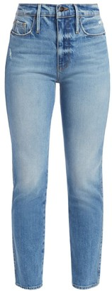 Frame Le Sylvie High-Rise Crop Straight Jeans