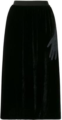 MM6 MAISON MARGIELA High-Waisted Midi Skirt