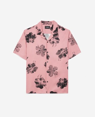 The Kooples Printed pink shirt with short sleeves