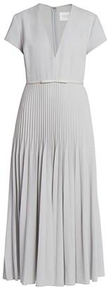 Giambattista Valli Cashmere & Silk Plisse Midi Dress