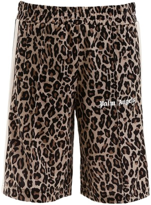 Palm Angels Leopard Short Trackpants