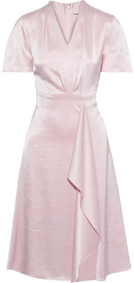 Elie Tahari Shiran Draped Crinkled-satin Dress