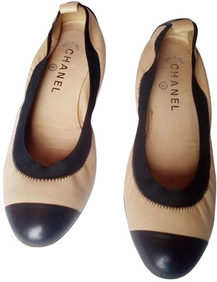 Chanel Beige Leather Ballet flats