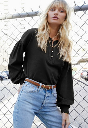 Singer22 Gisella Peasant Tee With Contrast