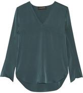 By Malene Birger Mizar Stretch-silk Blouse - Emerald