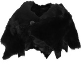 Karl Donoghue Reversible Shearling And Leather Wrap - Black