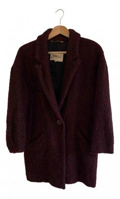 Etoile Isabel Marant Burgundy Wool Coats